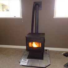small heater with fire